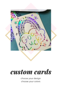 Custom cards made with Cricut Joy