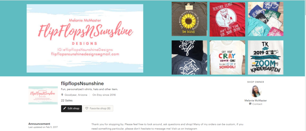 Etsy Shop Banner - small business